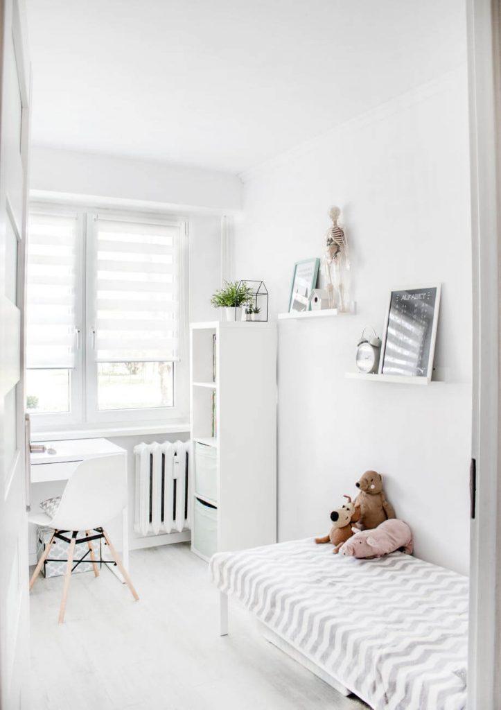 habitacion infantil en blanco